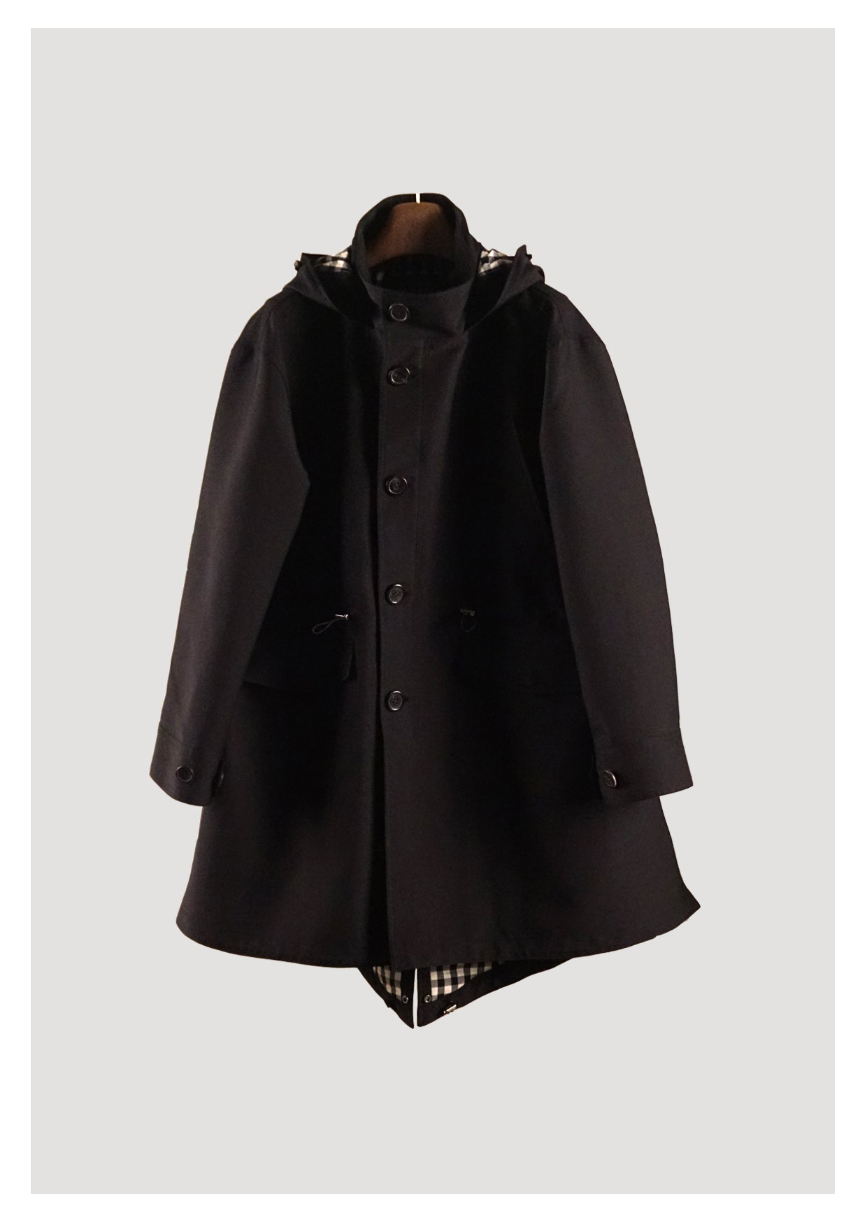 VOLAJU Black Cotton Mods Coat