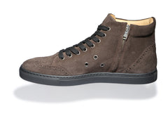 Ariza Brown High-Top Sneakers