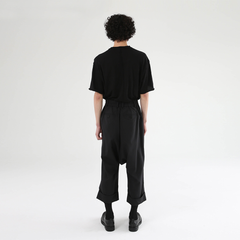 Crop Turn-up Wide Leg Pants