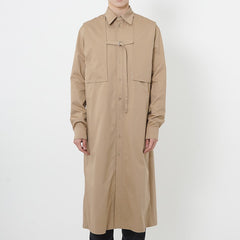 Shirt Detailed Trench Coat