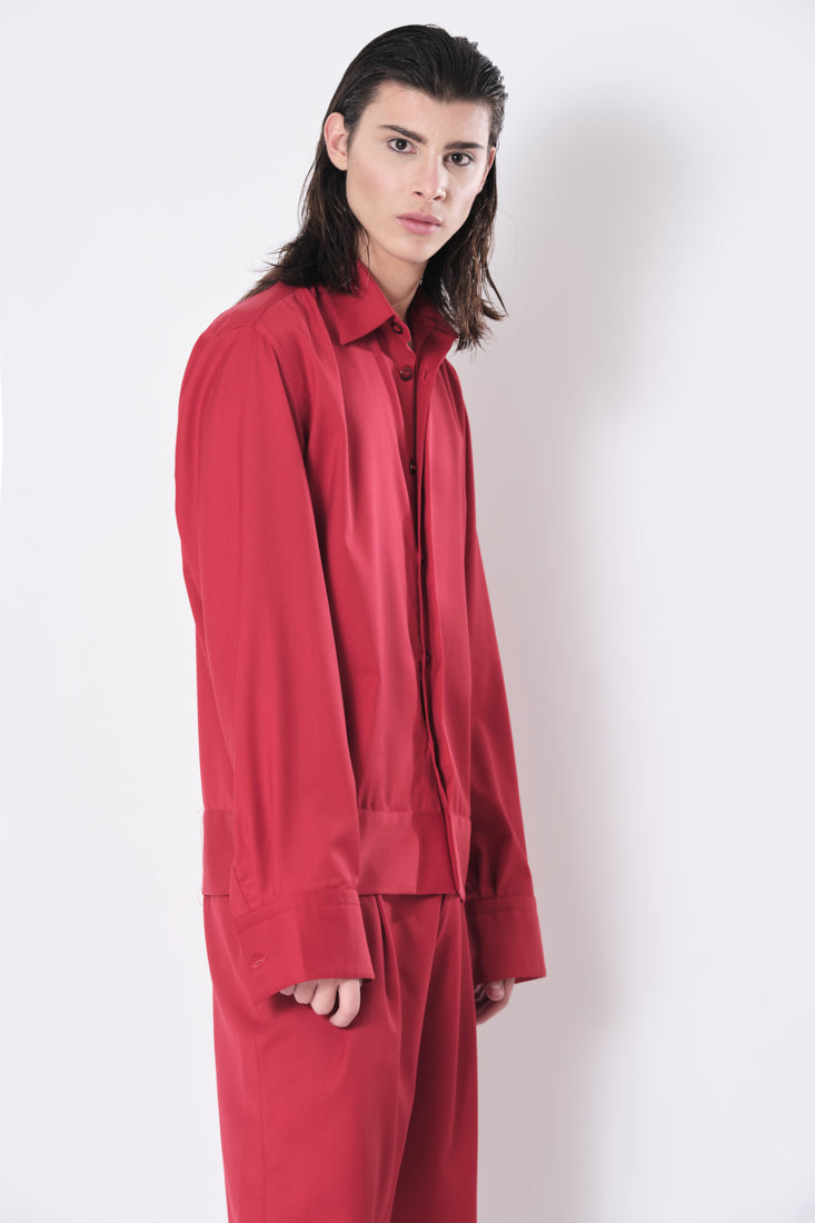 Simple Red Shirt Jacket