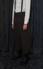 Khaki Brown 2 Tuck HighWaist Trousers