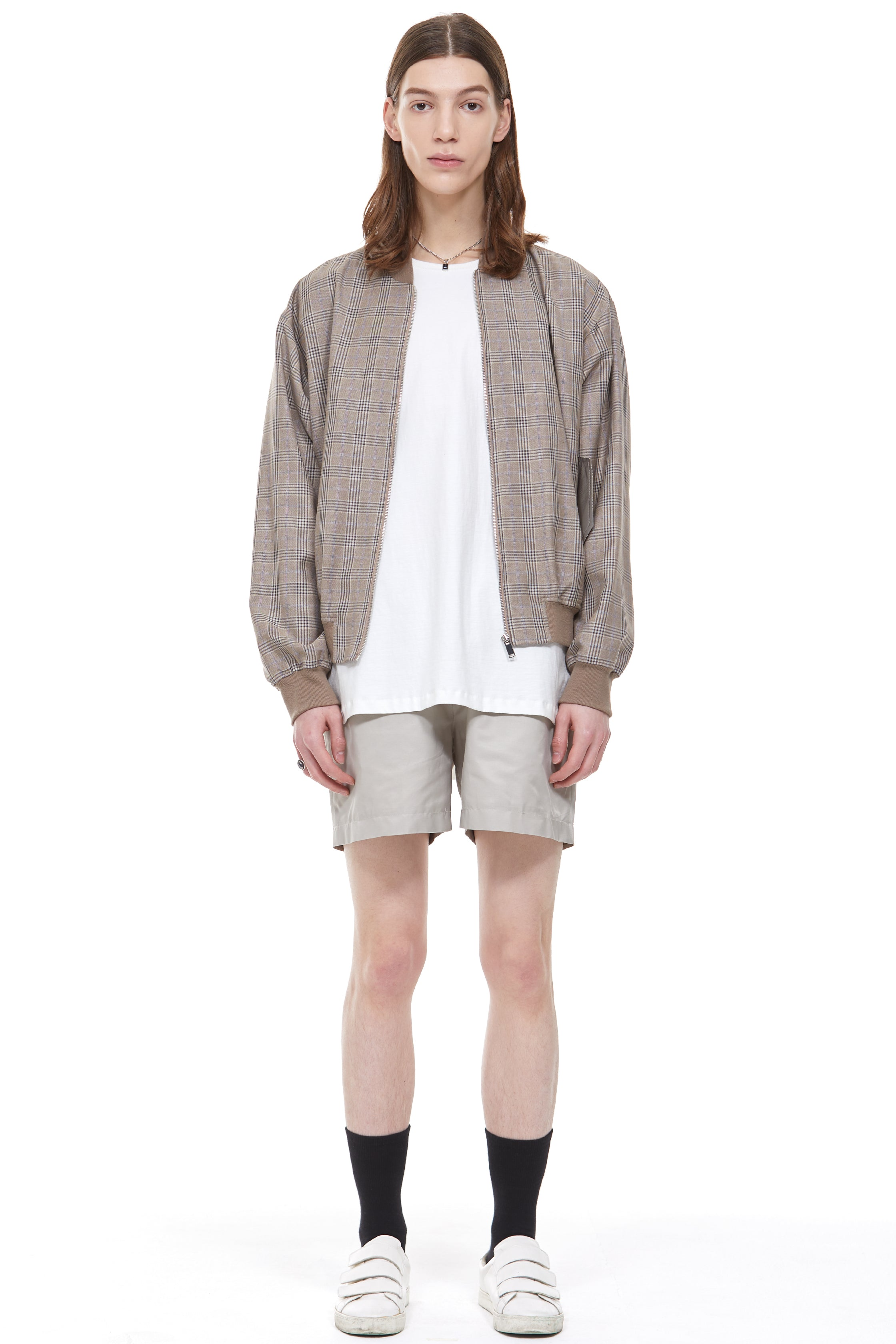 Check Spring Blouson in Brown