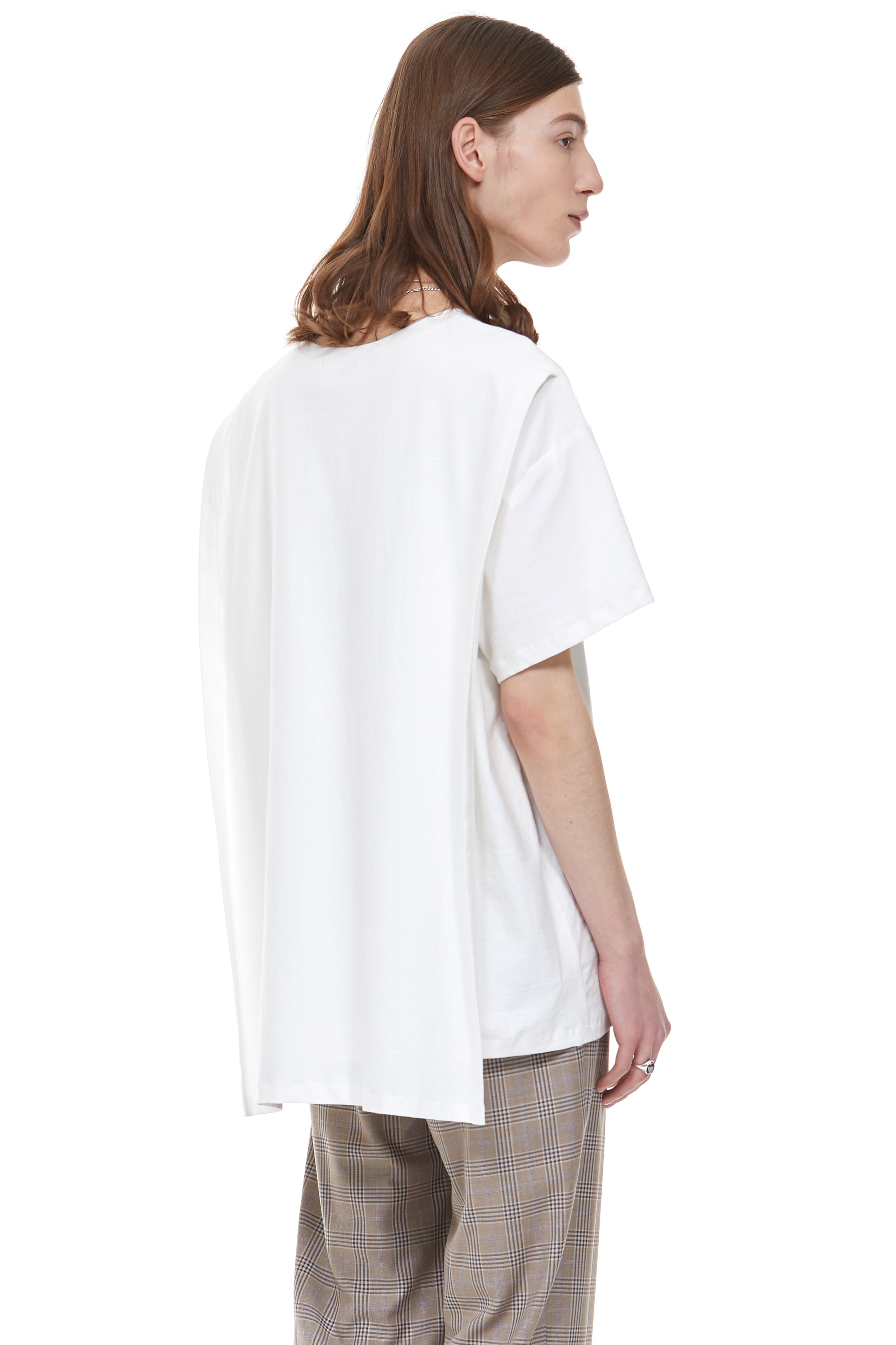 Back Covered T-Shirt in White