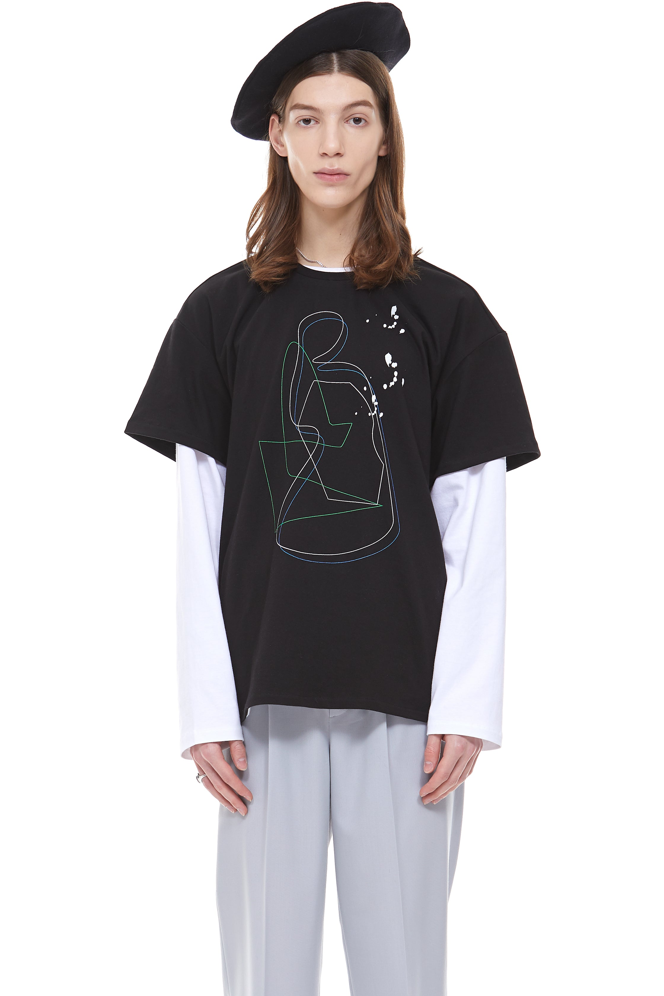 Painting Archive T-Shirt in Black