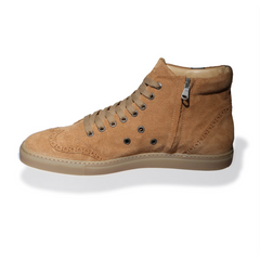 Ariza Cognac High-Top Sneakers