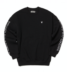 V Mark Crewneck - Black