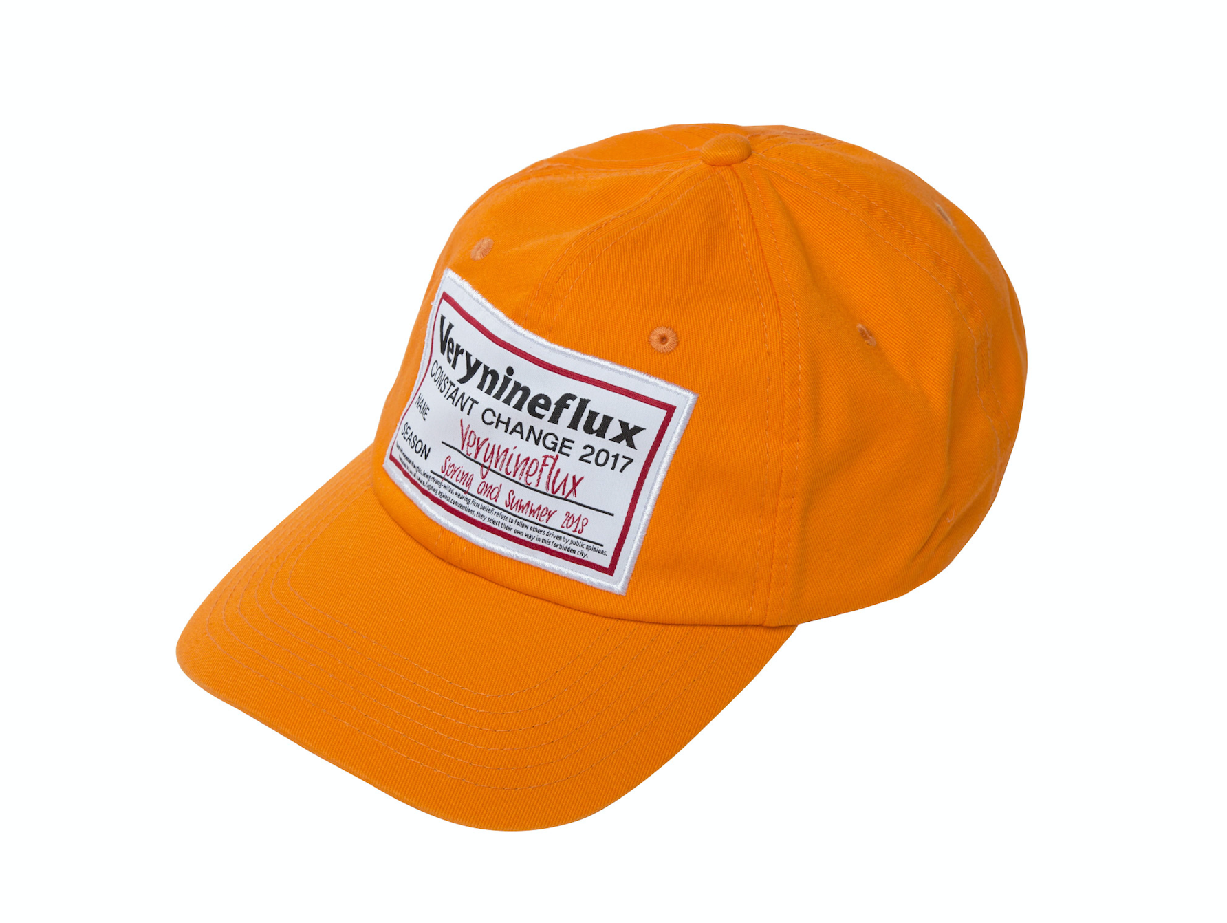 Big Label Cap - Orange