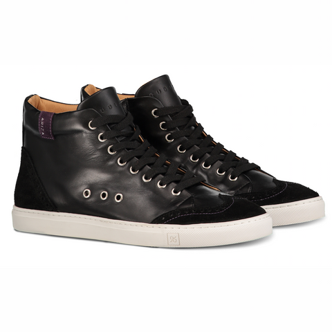Ariza Black Sneakers in Leather