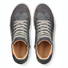 Ariza Grey Sneakers in Leather