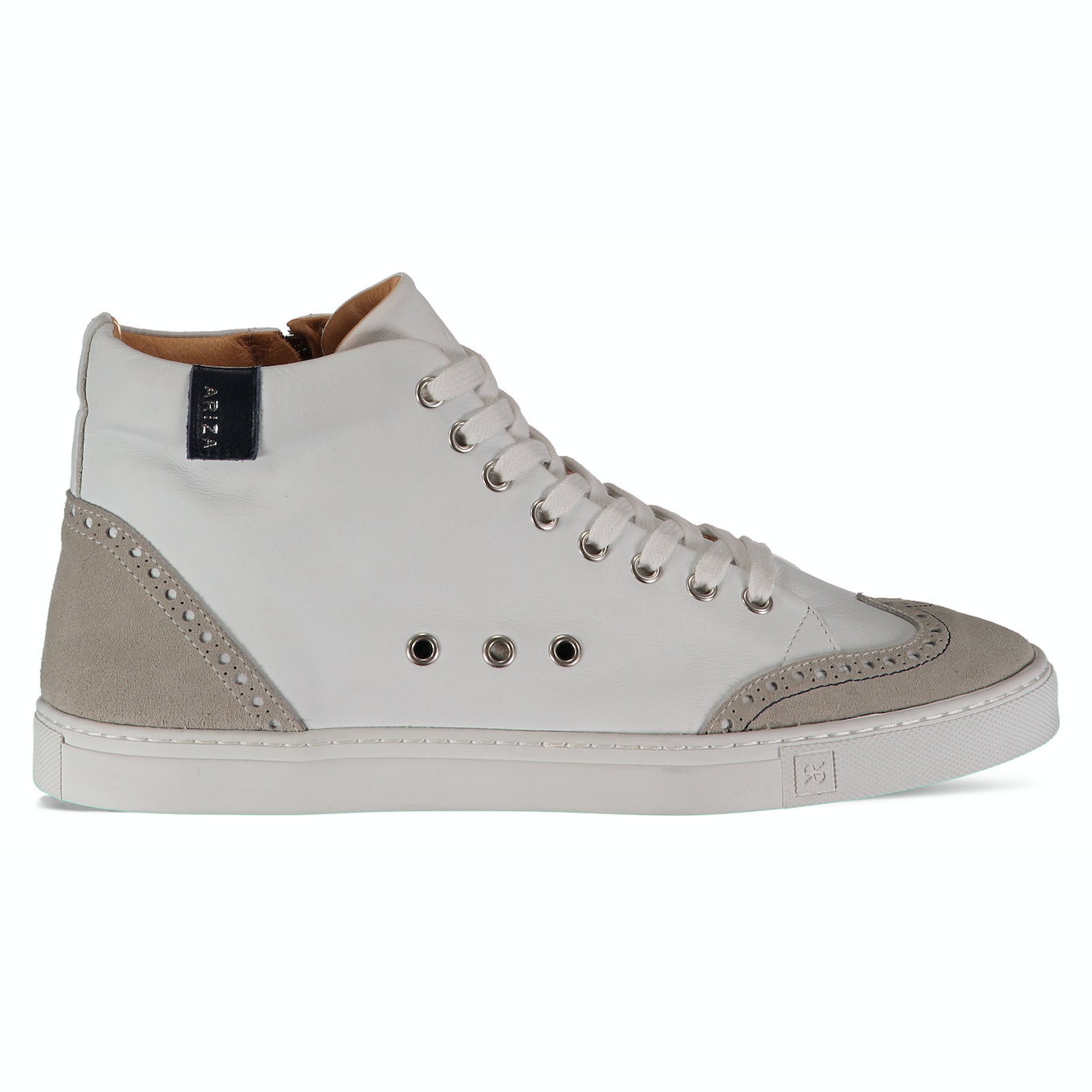 Ariza White Sneakers in Leather
