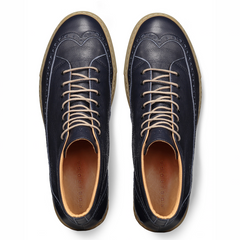Odile High Navy Sneakers in Leather