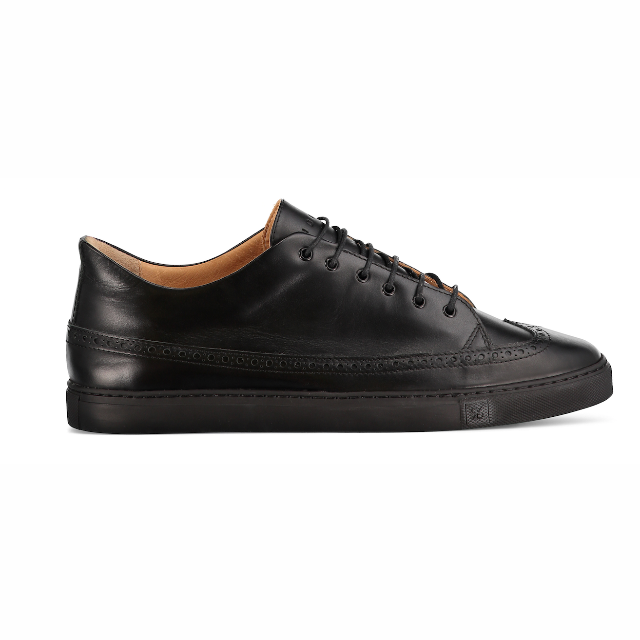 Odile Low Black Sneakers in Leather