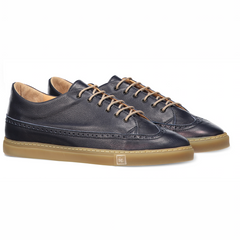 Odile Low Navy Sneakers in Leather
