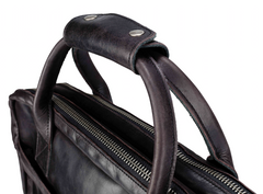 Mahana Briefcase in Wenge Leather