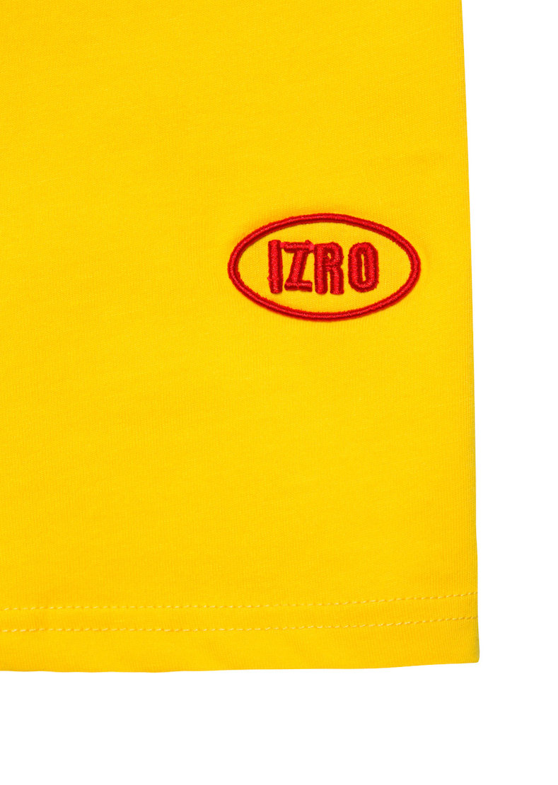Embroidery Logo T-Shirt - Yellow