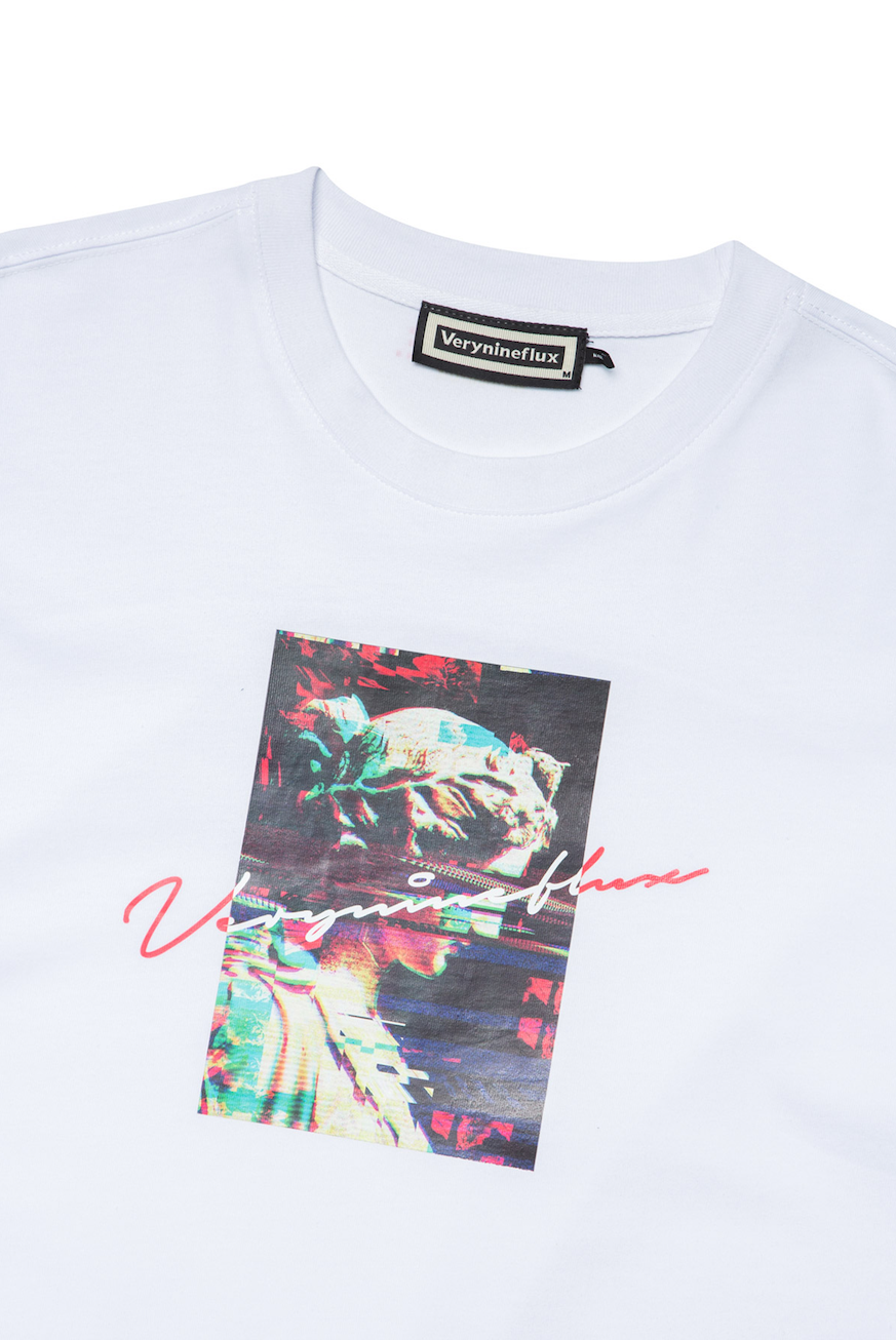 Glitch Effect T-Shirt - White