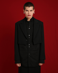 Men's Wool Cropped Jacket