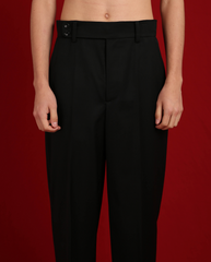 Black Wool Trousers