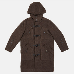 Two Tone Twill Hood Duffle Coat