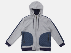 Quilting Pocket Heavy Napping Hood Zip-up