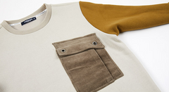 Heavy Sweatshirts Corduroy Pocket