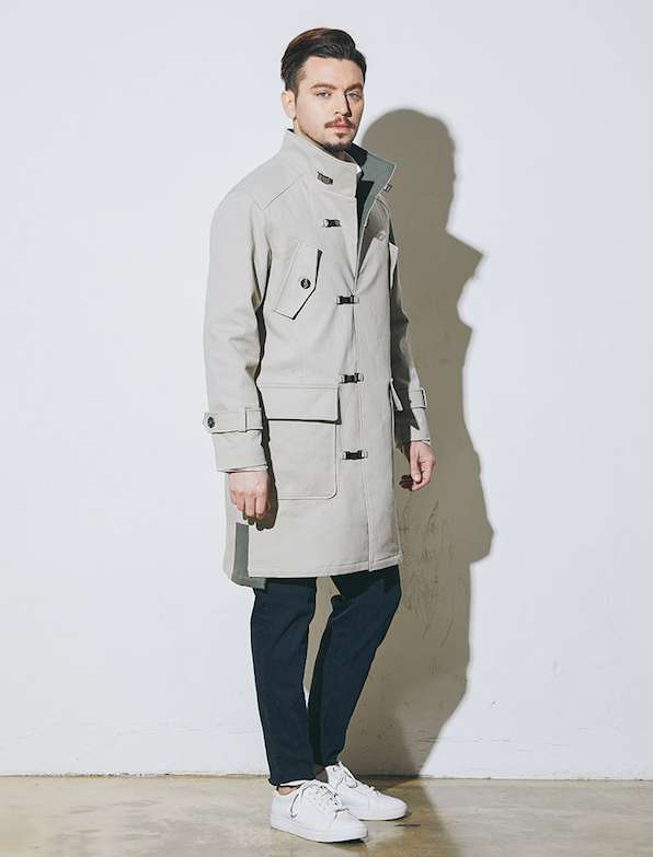 Pullover Metal-Buckle Coats