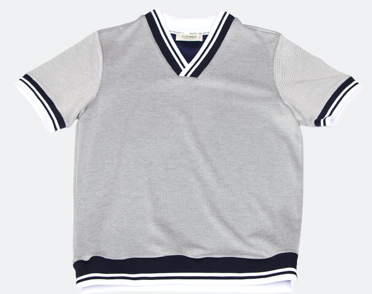 Preppy V-Neck T-Shirt