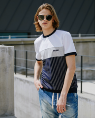 Pattern Mix Logo Round T-Shirt