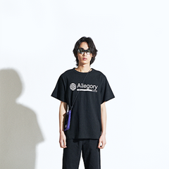 Allegory Half T-Shirt Black And White