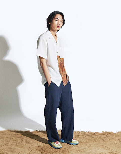 Air Linen Long Pants Navy