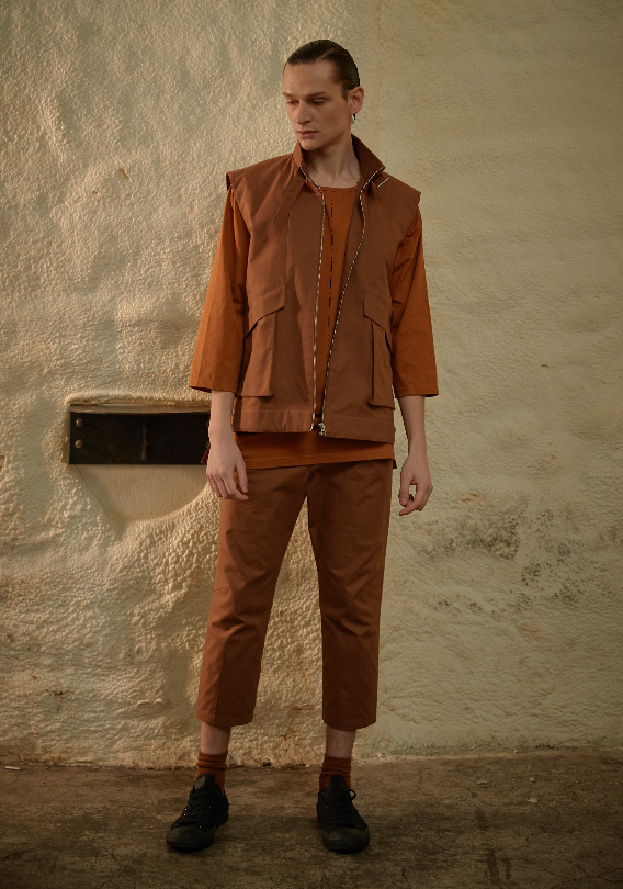 Brownish Orange Pants SS19SFTSDCTR004