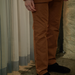Brown Orange Pants SS19LSDDTR001