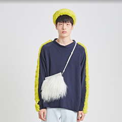 Yellow Fur Detail Navy MTM