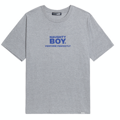 Naughty Boy Tee Grey