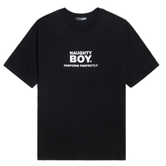 Naughty Boy Tee Black