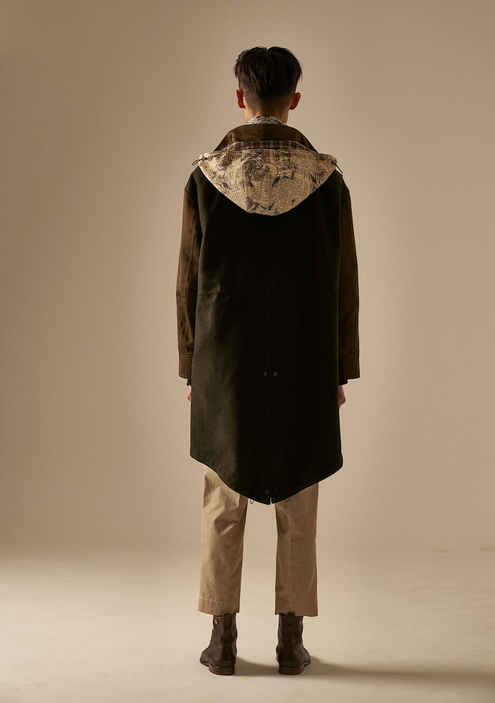 Volaju Khaki Cotton Mods Coat