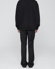 Long Wide Trousers Black