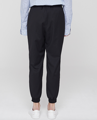 Wool Pocket Jogger Trousers Black