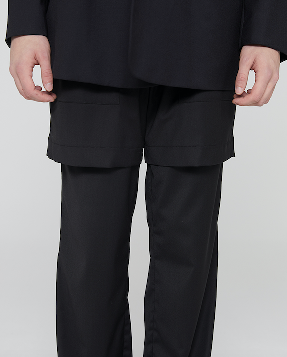 Two Fold Trousers Black