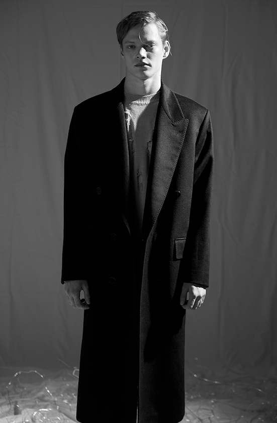 CSM Wool Maxi Over Coat Black