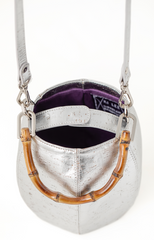 Brendel Mini Bucket Bag in Silver