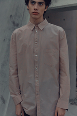 SS20 Creased Button Stand Detailed Shirt 001 Peach