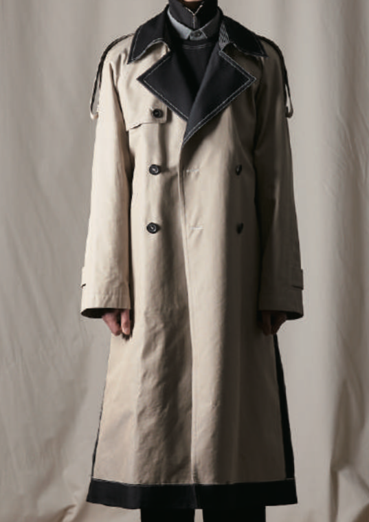 Beatniks Vol.2 Beige Cotton Mix Trench Coat (Made-To-Order)