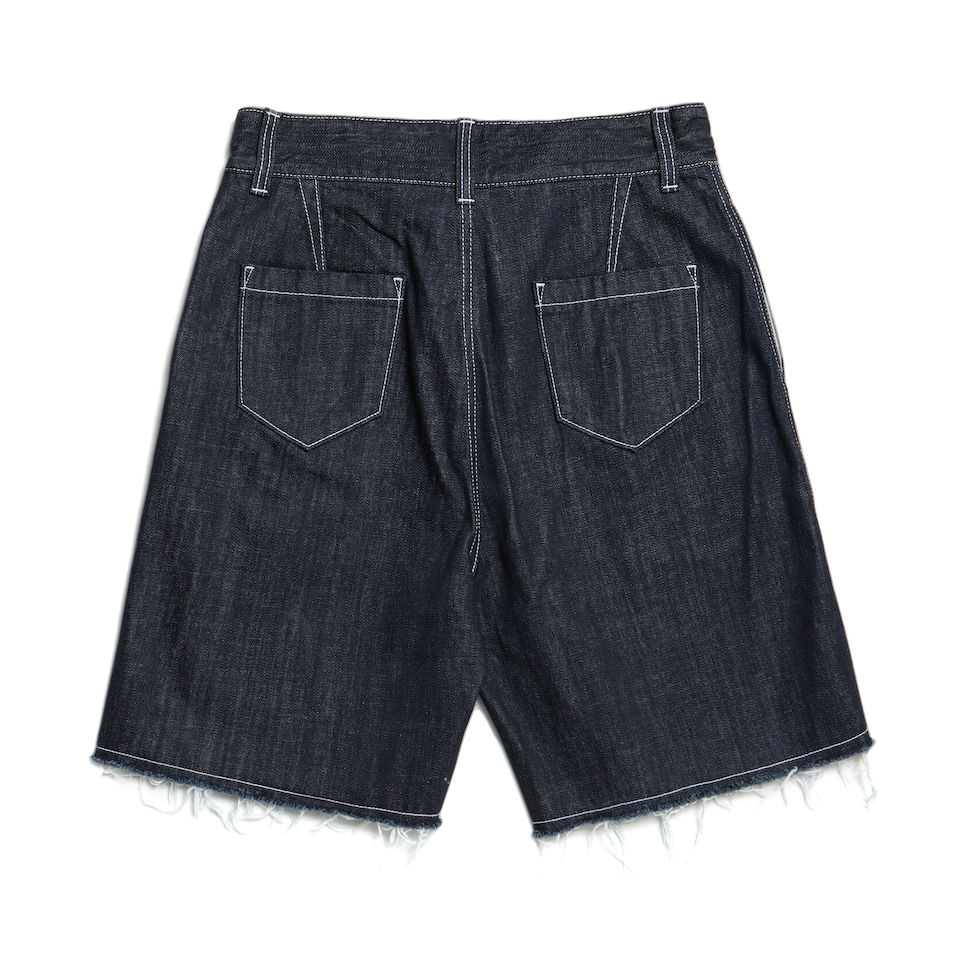 TONTON Daily Pleated Denim Shorts