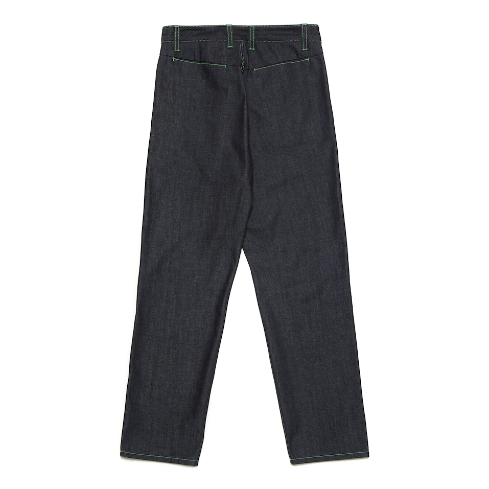 SENARE Square Two-Way Pocket Raw Denim Pants