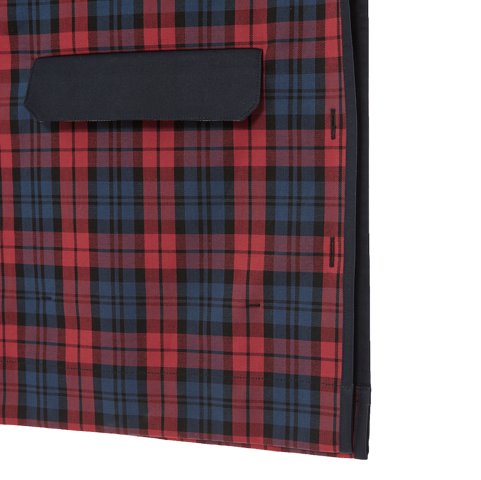 TECKA Red Tartan Check Square Top