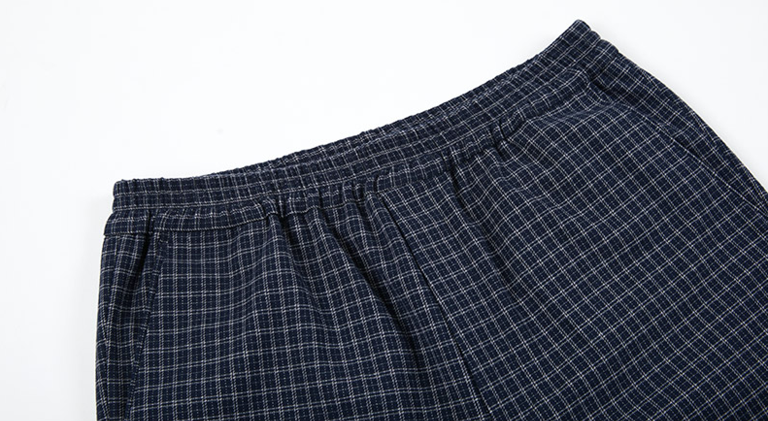 Caprants Basic Check Banding Pants