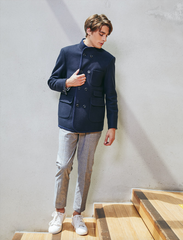 Wool Terry Double Blazer