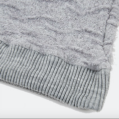 Volume Wave Knit Pullover